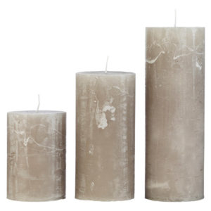Rustic candle STONE