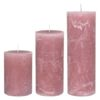 Rustic candle DUSTY ROSE