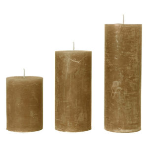 Rustic candle AMBER