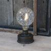 lampe m. mønstret pære / batteri