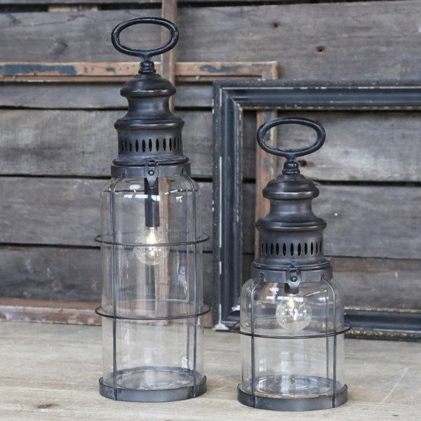 Fransk stald lanterne m. timer.