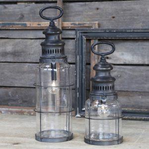 Fransk stald lanterne m. timer