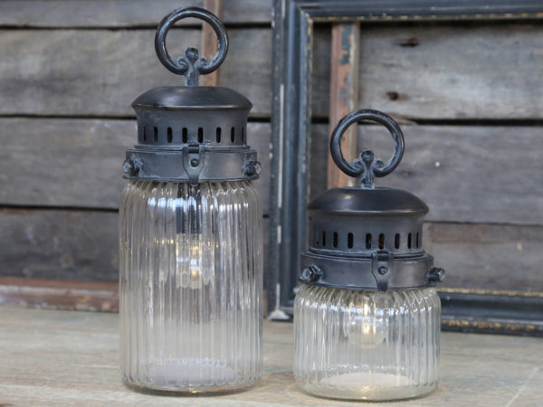Chic Antique Fransk lanterne m. timer