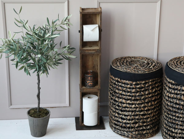 Chic Antique gulv toiletpapirholder af murstensform
