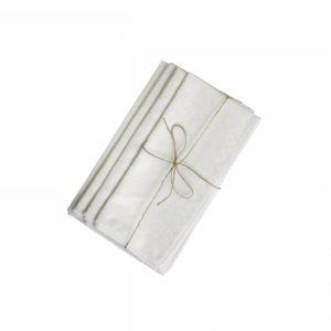 Chic Antique mundserviet m. guldprint hvid