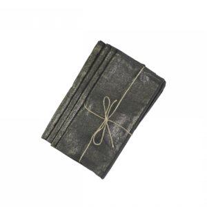 Chic Antique mundserviet m. guldprint sort