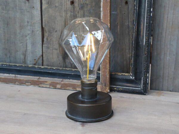 Chic Antique Diamant Lampe m. batteri