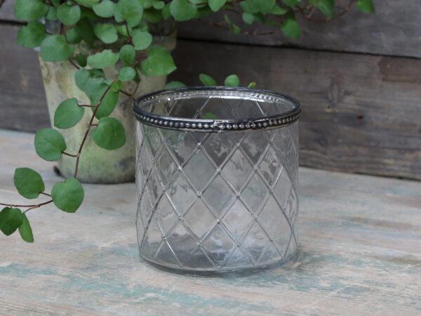 Chic Antique glasskjuler m. perlekant L