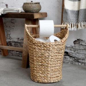 Chic Antique kurv m. toiletpapirsholder natur